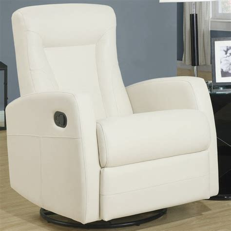 ivory leather swivel recliner chair ivory bonded leather swivel rocker recliner modern