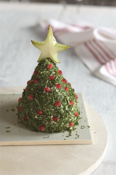 christmas tree cheese ball cheese shapes popsugar food