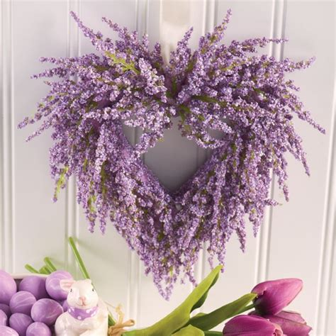 lavender heart wreath antique farmhouse