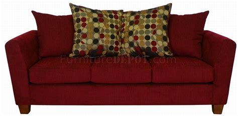 red sofa fabric red fabric modern sofa loveseat set w optional items