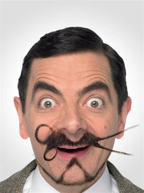 hairstyle mustache mr bean with his crazy facial hair cool or uncool