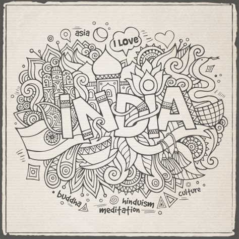doodle in india indian black and white doodle kidspressmagazine