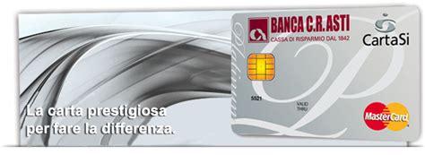 credito asti carte di debito e carte di credito di asti