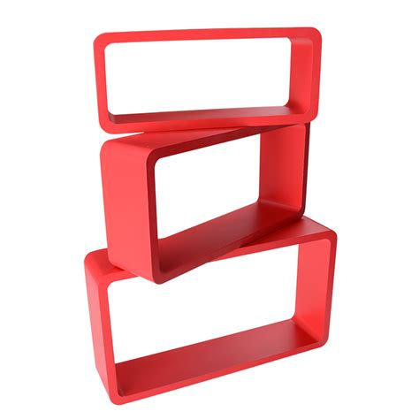 rectangle wall shelf floating wooden rectangle wall shelf rack display