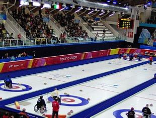 sedia a rotelle in inglese curling in carrozzina