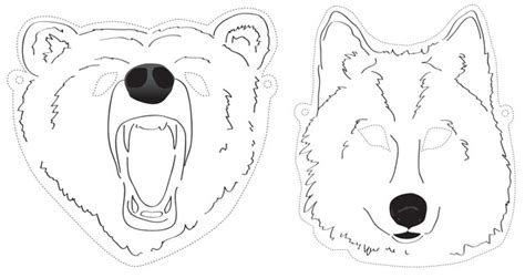 printable wolf mask black and white how to make a dinosaur mask show me