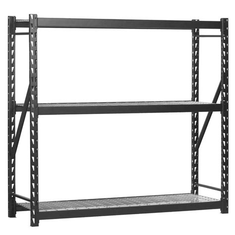 edsal 72 in h x 77 in w x 24 in d 3 wire shelf steel
