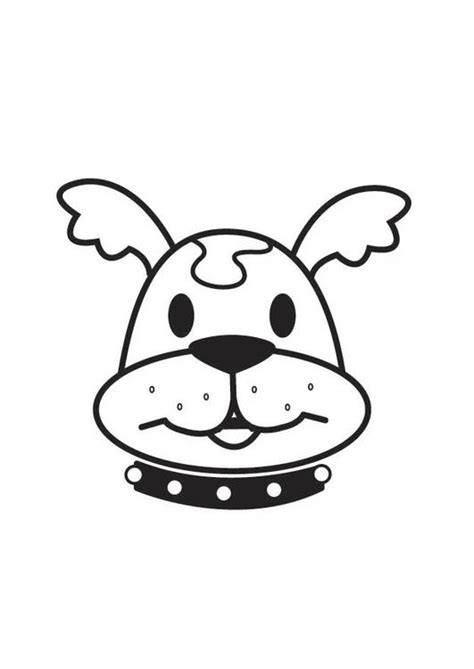 coloring pages of dog head coloring page dog head img 17558