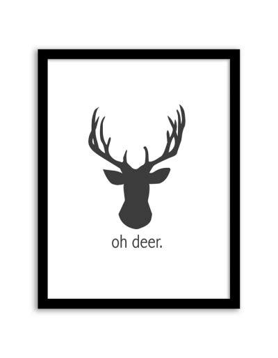 free printable wall art deer christmas home printables free printables included