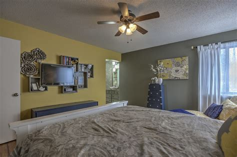 yellow and grey master bedroom gray and yellow master bedroom transitional bedroom