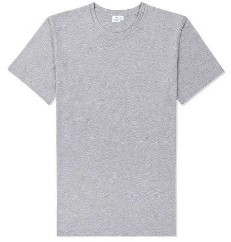 Grey Shir lyst sunspel riviera crew neck t shirt in gray for
