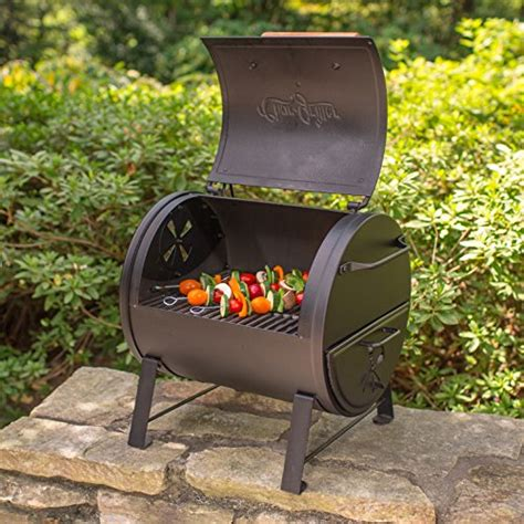 char griller table top smoker char griller 2 2424 table top charcoal grill and side