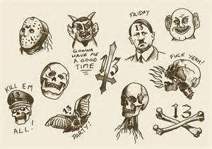 friday the 13 tattoo flash book covers