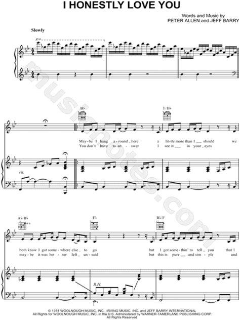 olivia newton john i honestly love you lyrics olivia newton john quot i honestly love you quot sheet music in bb