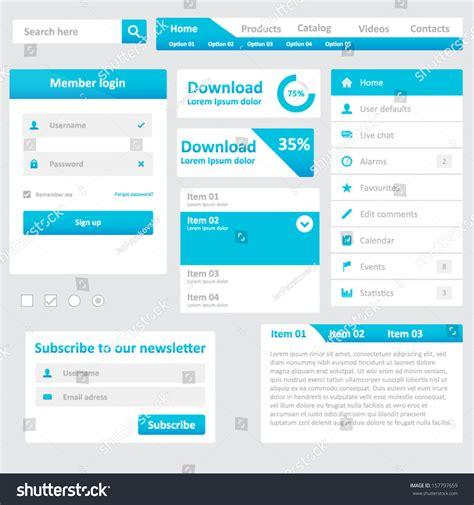 Website Elements Design Template Your Web Stock Vector 157797659 Shutterstock Web Page Menu Templates