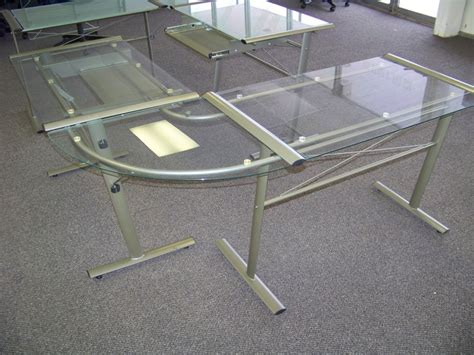 l shaped glass computer desk on being t shaped core77 home office desk
