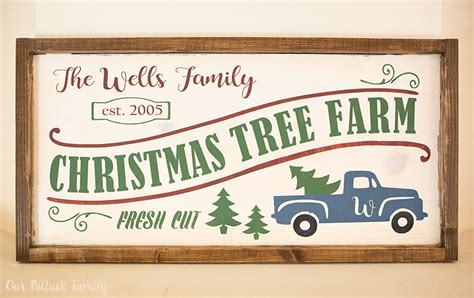 diy wooden christmas tree farm sign our potluck family