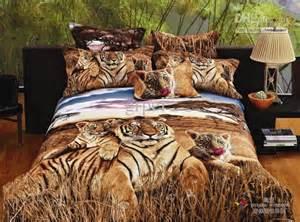 Tiger Bed Set 3d Siberian Tiger Print Bedding Comforter Set Size Bed Linen Sheet Duvet Cover Quilt