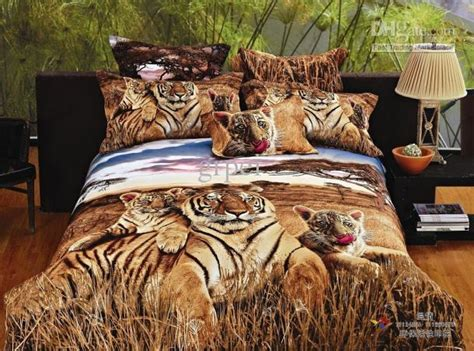 Tiger Print Bedding Comforter Set 3d Siberian Tiger Print Bedding Comforter Set Size Bed Linen Sheet Duvet Cover Quilt