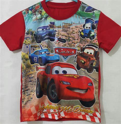 Baju Setelan Anak Cars Baju Kaos Anak kaos anak cars mcqueen printing 1 6 grosir eceran baju anak murah berkualitas