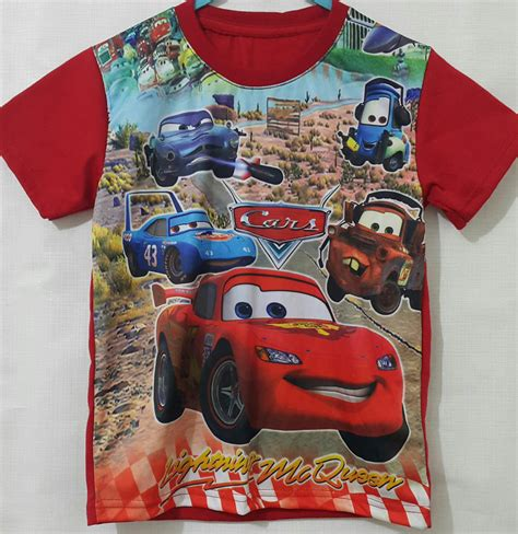 Kaos Kaki Printing Anak 2 Sisa Depan Belakang kaos anak cars mcqueen printing 1 6 grosir eceran baju anak murah berkualitas