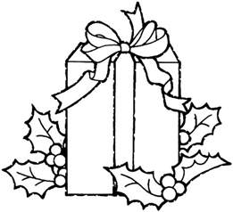 christmas gift coloring pages 3 purple kitty