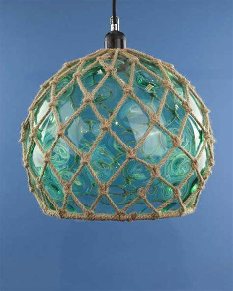 glass fishing float pendant light glass fish float hanging pendant light sea green