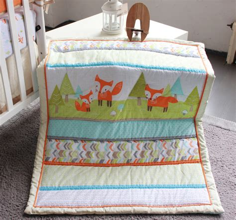 fox baby bedding 2015 new 7 pcs baby bedding set baby bed set fox cartoon