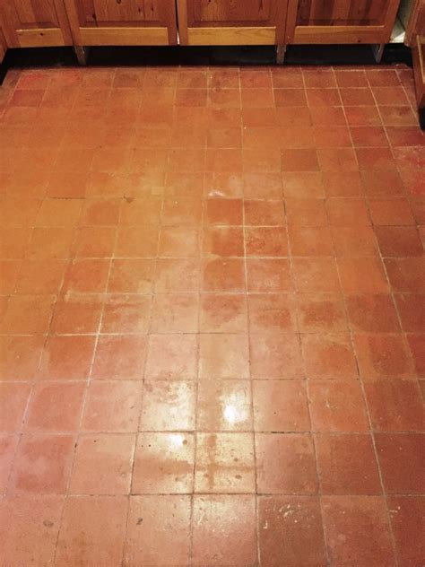Quarry Tiled Kitchen Floor Deep Cleaned and Sealed in