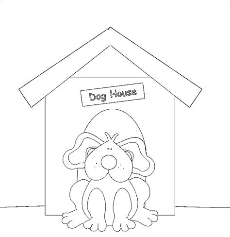 dog house coloring pages dog house coloring pages