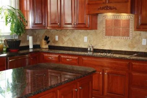 cherry wood cabinets with granite countertop tile backsplash ideas for cherry wood cabinets home