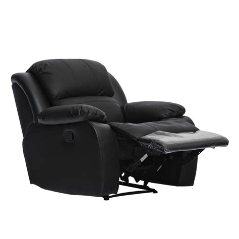 recliner brands kacey brand new black leather single seater chair recliner