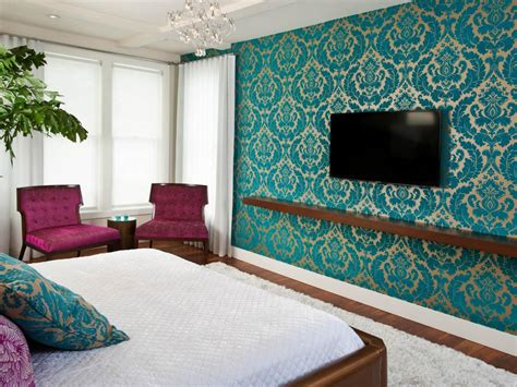 teal accent wall contemporary blue accent guest bedroom come with teal
