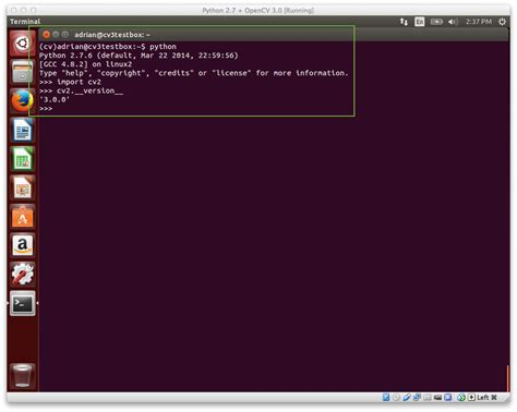 opencv tutorial with python install opencv 3 and python 2 7 on ubuntu pyimagesearch