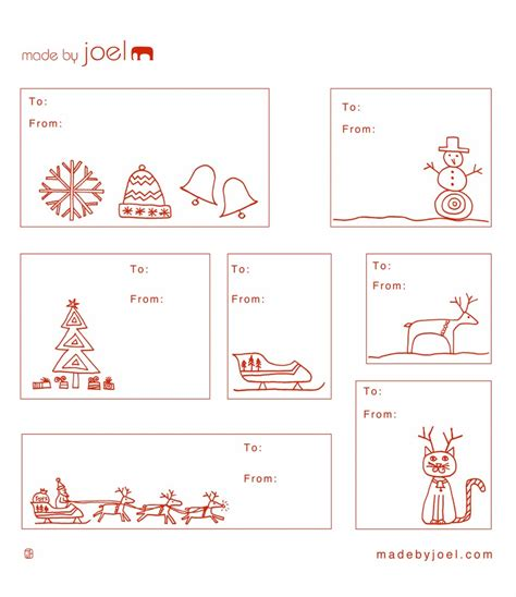 Printable Christmas Gift Tags To Make | printable gift tags made by joel the refab diaries