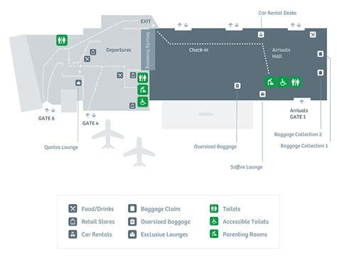 guide to airport service and amenities and terminal maps terminal guide passenger services hobart airport