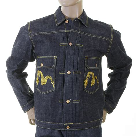 Evisu Original shop for the non wash mens indigo denim jacket by evisu