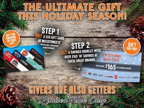 Ultimate Gift Card Coupon Code - get 165 in coupons when you buy 50 ultimate dining card kelseys swiss chalet etc