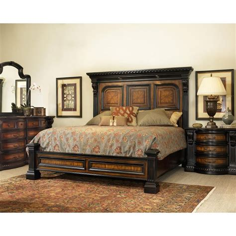 king bedroom sets image: grand estates cinnamon  piece cal king bedroom set