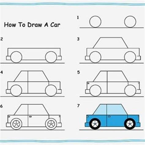 How To Make Cars With Paper Step By Step - how to draw a car step by step for