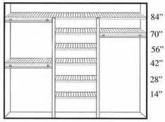 Closet Rod Placement by Diy Closet Organizer Plans Customize Your Closets
