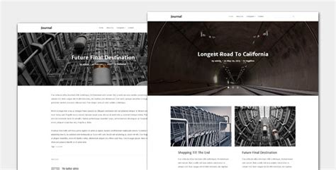 themeforest journal journal blog and magazine theme by templatesquare