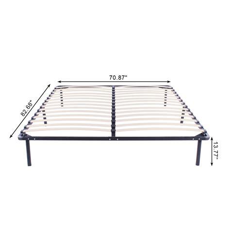 king bed foundation full king queen size wood slats metal platform bed frame