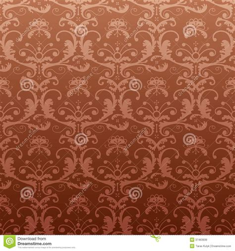 a seamless repeating retro floral repeating pattern in vintage style royalty free stock