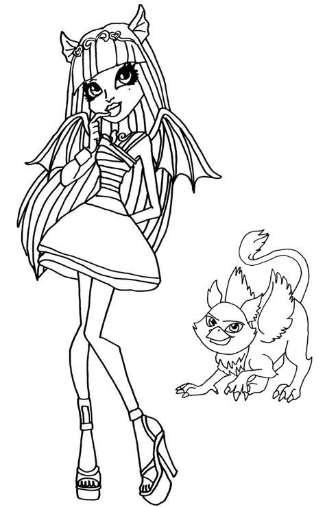imagenes para pintar de monster high dibujos para pintar de rochelle goyle monster high