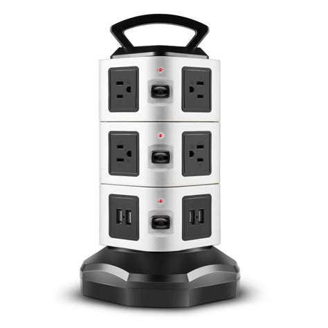 Power Charger Usb power with usb surge protector 10 outlet 4 usb port