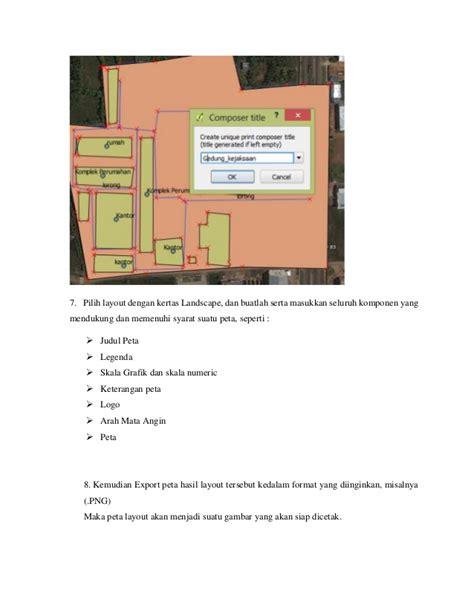 membuat layout di qgis laporan layout peta dengan qgis