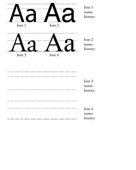typography worksheet vector graphics typography