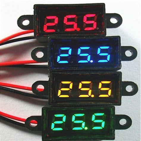 Voltmeter Mini Dc 12 Volt waterproof 0 28 dc 3 5 30v mini digital led voltmeter volt meter f 12v car moto in voltage