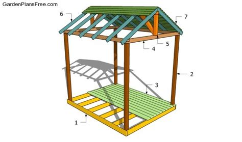 backyard shelter plans wood working idea this is diy cedar outdoor table